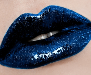 blue and lips image