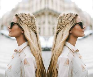 hair, style, and blonde hair image