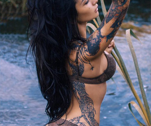 girl, sexy, and tattoo image