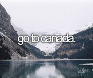 canada, before i die, and travel image