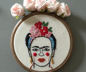 beautiful, embroidery, and flowers image