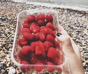 healthy, raspberry, and sea image
