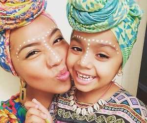 mother, beautiful, and daughter image