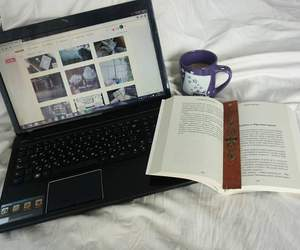 book, cozy, and laptop image