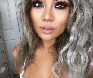 beauty, girly, and grey hair image