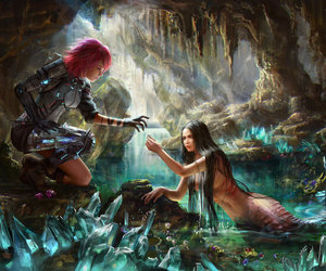 mermaid, fantasy, and armor image
