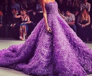 dress, purple, and luxury image
