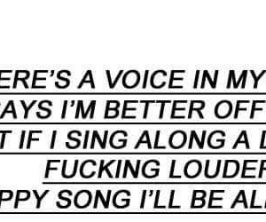 bring me the horizon, quotes, and happy song image