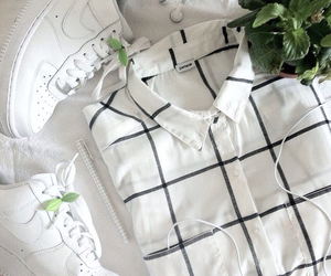 white, nike, and plants image