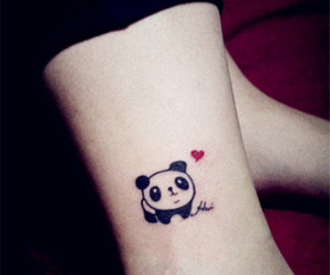 panda, tattoo, and animal image