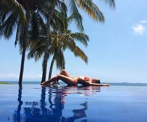 kim kardashian, summer, and beach image