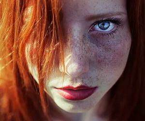 beautiful, freckles, and ginger image