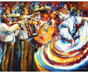 art, afremov, and artwork image