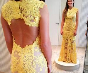dress, girls, and long dress image