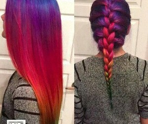 hair, red, and braid image