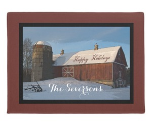 barn, christmas, and silo image