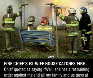 funny, fire, and Firemen image