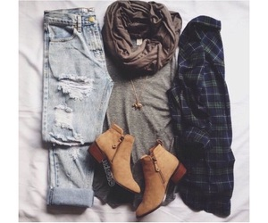 ankle boots, fashion, and hipster image