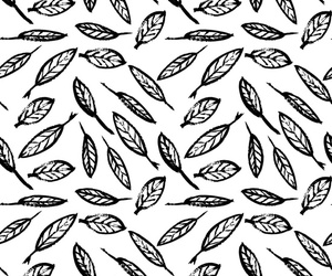 art, leaves, and pattern image