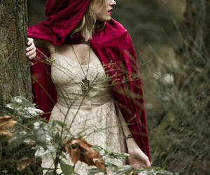 red, fantasy, and red riding hood image