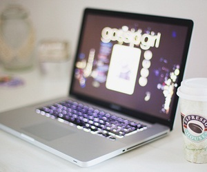 gossip girl, coffee, and laptop image