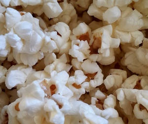 wallpaper, food, and popcorn image