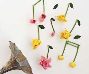 music and flowers image