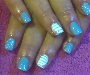 blue, dots, and nails image
