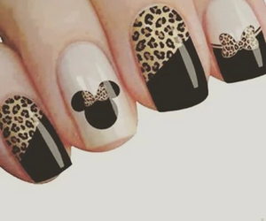 mickey, ongles, and leopard image