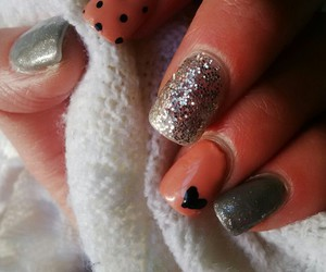 hearts, nais, and glitter image