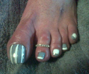 stripes, toes, and grey n white image