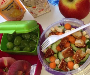 healthy, lunch box, and school lunch image