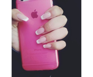 nails, pink, and frenchnails image