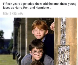 harry potter, hermione, and OMG image