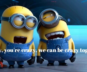 crazy, funny, and minions image