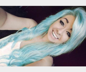 long blue tumblr hair image