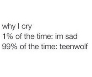 sad and teen wolf image