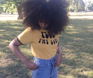 Afro, beautiful, and hair image