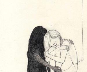 sad, alone, and shadow image