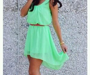 dress, girl, and green image
