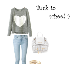 outfit, school, and ugg image