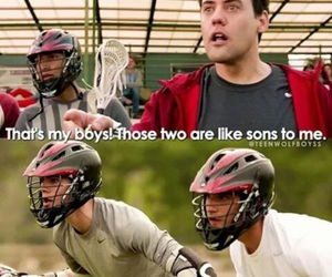 coach, scott, and teen wolf image