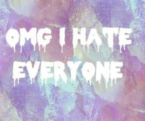 hate, OMG, and pastel image