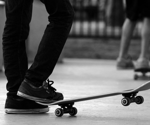 boy, skate, and black and white image