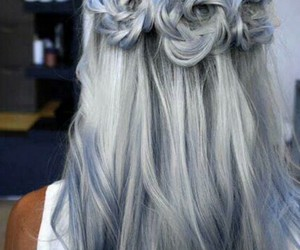 blue, hair, and hairestyle image