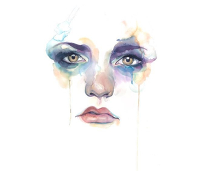 art, girl, and face image