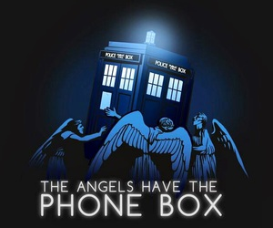 angels, tardis, and doctor who image