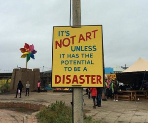 art, disaster, and dismaland image