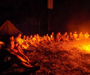 camp, campfire, and forever image