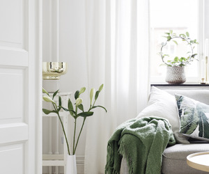 blankets, green, and living room image